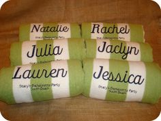 personalized towels perfect for destination weddings on the beach !