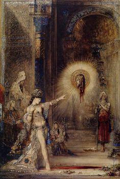The Apparition, by Gustave Moreau, 1874-1876. Watercolor on paper, Musée du Louvre, Paris. - Symbolism