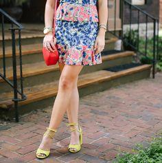 Shelby Skaggs of Glitter & Gingham: BCBG Dress, Steve Madden Shoes, GiGi New York Bag, Lisi Lerch Tassel Earrings