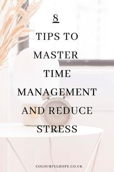 Jan 2020 - 8 Time Management Tips to help reduce stress and anxiety when needing to get jobs done. Stress is avoidable if this is done correctly. Time Management Tools, Effective Time Management, Time Management Strategies, Anxiety Relief, Stress And Anxiety, Mental Health Recovery, Stress Relief Tips, Thing 1, Dealing With Stress