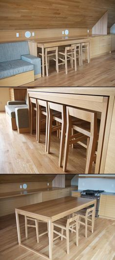 Creative and Modern Ideas Can Change Your Life: Dining Furniture Ideas Benches dining furniture parsons chairs.Painted Dining Furniture Storage outdoor dining furniture home. Tiny House Furniture, Home, Small Spaces, Tiny Spaces, Small Apartments, Dining Furniture, Little House, Furniture, House