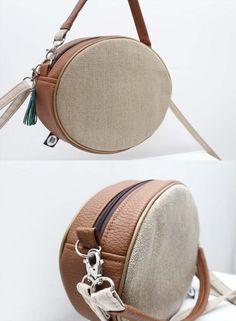 Torebka elipsa len i brąz! - Sklep Online Artyferia Saddle Bags, Lens, Handmade, Fashion, Moda, Hand Made, Sling Bags, Fashion Styles, Craft