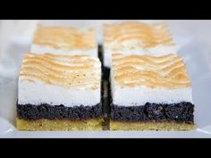 Barátaink kérték: Habos mákos (Szécsi Szilvi) - YouTube Gluten Free Pastry, Rice Flour, Cheesecake, Make It Yourself, Cookies, Youtube, Poppy, Food, Crack Crackers