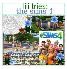 """""""☼; lili tries: the sims 4"""" by ocean-clique-xo ❤ liked on Polyvore featuring art and oceanbabelilixo"""