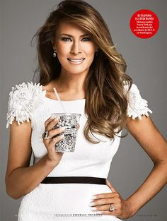 First lady Melania Trump turns heads 'eating' jewelry on the cover of Vanity Fair Mexico - AOL Lifestyle Donald And Melania Trump, First Lady Melania Trump, Donald Trump, Melania Trump Hair Color, Melania Knauss Trump, Ivanka Trump, Milania Trump Style, First Lady Of America, Trump Picture