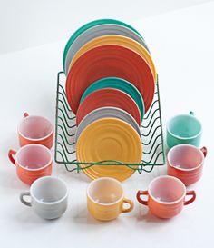 Child-size dishes by Hazel Atlas.