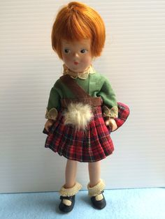 His back reads: Mme.. Alexander Doll Scotch 1930s by Jewelmoon