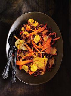 Salade de betteraves, carottes et haricots noirs