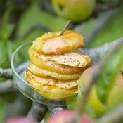 Pommes reinettes au foie gras - une recette Foie Gras - Cuisine