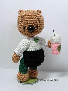 Bearista Amigurumi  Mini Crochet Bear of Thread by Teddy Bear Artist C. Walsh #AllOccasion