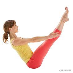 Stretch and fire up your abs, core and front body with these yoga poses, including Upward Plank, Warrior I and Full Boat Pose. Jillian Michaels, Asana, Boat Pose Yoga, Core Yoga Poses, Eight Angle Pose, Strengthening Yoga, Yoga Posen, Yoga Positions, Yoga Journal