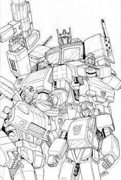 8 Melhores Ideias De Transformers Desenhos Para Coloriri Robos