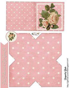 glenda's World : Pink Polka-Dot & Roses Card Set ❁ visit glenda's World for over 1000 FREE printable s ❁ http://glenda-jsworld.blogspot.com/