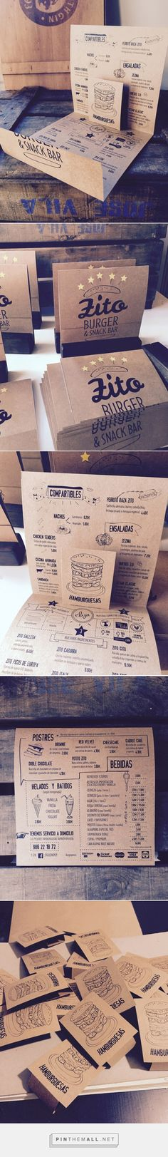 Art of the Menu: Zito Burger. - a grouped images picture - Pin Them All Cafe Design, Food Design, Layout Design, Print Design, Web Design, Carta Restaurant, Restaurant Menu Design, Restaurant Branding, Brand Packaging