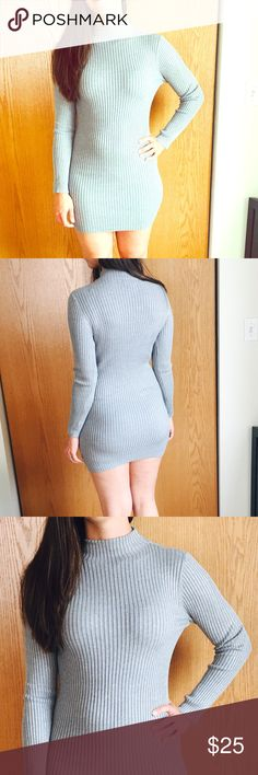 FOREVER 21  NEW W TAG Beautiful Gray Dress 💅💅 Forever 21 Dresses Mini
