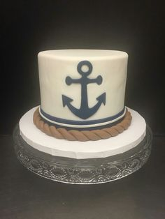 Nautical smash cake #nauticalcake #anchorcake #nadiacakescupcakes Anchor Cakes, Nautical Cake, Cake Smash, Food Network Recipes, A Food, Cupcake Cakes, Cruise, Bakery, Desserts