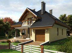 fatade case crem cu maro - Căutare Google Style At Home, Design Case, Home Fashion, My Dream, Gazebo, Shed, Outdoor Structures, House Design, Cabin