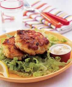 Salmon Cakes with Soy-Ginger Mayonnaise  - CountryLiving.com