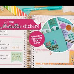 New Metallic Stickers are now available in the new Designer Sticker Book!   Erin Condren planners will be available for pre-order June 9th! Use my referral code and get $10 off for new customers https://www.erincondren.com/referral/invite/kayleneklingert0525 #ECLifePlanner #ECadventure #erincondren #erincondrenlifeplanners #erincondrenlifeplanner @erincondren