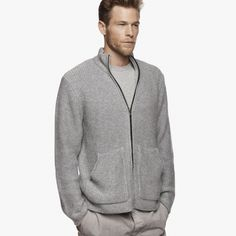 CASHMERE ZIP-UP SWEATER