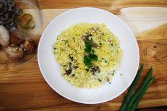 Mushrom Risotto, for our Delivery Menu.  www.apequenacozinha.com