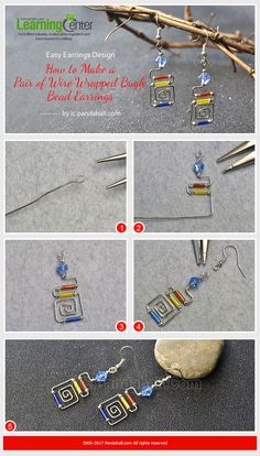 Do you wanna make wire wrapped earrings? Let's do it!