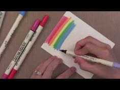 In this tutorial, Distress Markers are used on watercolor paper to create three different cards