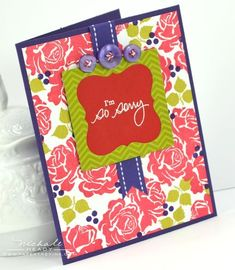 So Sorry Card by Nichole Heady for Papertrey Ink (July 2012)