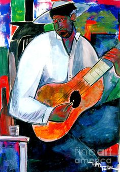 Downhome Blues Painting by William Tolliver - Downhome Blues Fine Art Prints and Posters for Sale
