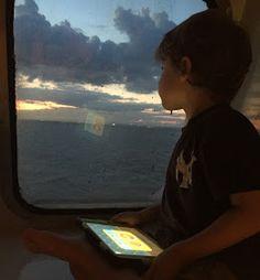 Autitsic boy on ferry boat
