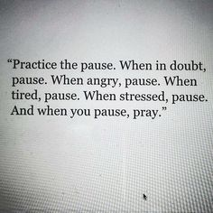 Practice the #pause. It will allow you to #reflect and #respond to situations rather than #react spontaneously. Often, when we entertain lower energy thoughts, feelings and emotions to the extent that we become carried away by the momentum - which makes it challenging for us to shift back into a state of being centered and neutral. When we take a moment instead, it stops the momentum dead in its tracks and allows us to consider matters from a state in which we can make decisions from a clear…