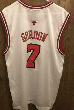 e61b820903a Adidas ben gordon  7 chicago bulls white nba basketball jersey men large
