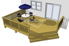 Plan name: 1LI2014; reverse the view and leave out the front railing