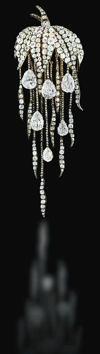The French Crown Jewels: A magnificent diamond orchid brooch of Empress Eugénie