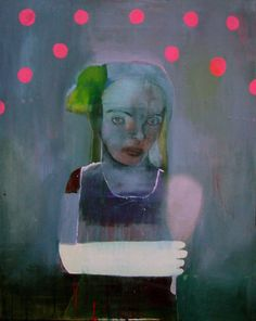 Beautiful and awesome portrait made by Lone Seeberg Modern Artists, French Artists, Contemporary Artists, Awesome Art, Cool Art, Installation Art, Lonely, Paintings, Cool Stuff