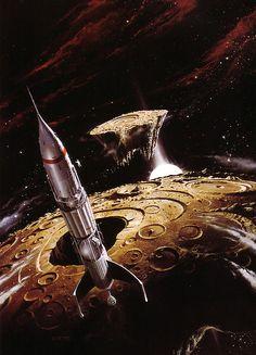 Sci Fi art, Space art, rocket