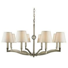 Golden Lighting 35008 ABPMT Chandelier with Silken Parchment Shades Aged Brass Finish >>> Click image for more details.