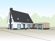 Modern-eigentijdse-witte-villa-met-bijgebouw-3D-2