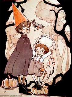 Over the garden wall by madlibbs on deviantart otgw & gravit Garden Wall Art, Over The Garden Wall, We Bare Bears, Design Reference, Steven Universe, Art Drawings, Concept Art, My Arts, Geek Stuff