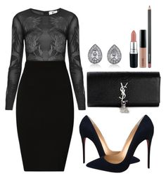 """Untitled #261"" by amoney-1 ❤ liked on Polyvore featuring Unique, Plein Sud, Christian Louboutin, Yves Saint Laurent, BERRICLE and MAC Cosmetics"