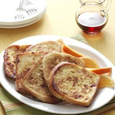 Vanilla French Toast Recipe from Taste of Home -- shared by Joe and Bobbi Schott of Castroville, Texas