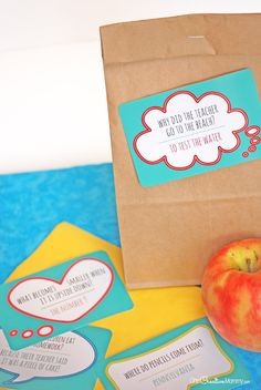 These lunch box jokes are perfect for back to school! So cute and all you do is print and cut!