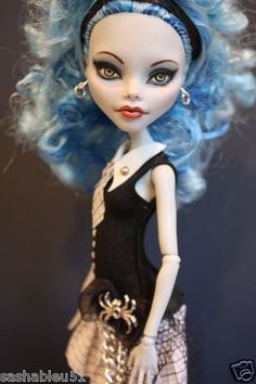 "OOAK Custom Monster High Doll Repaint with Outfit ""Grace"" by Artist Sashableu 