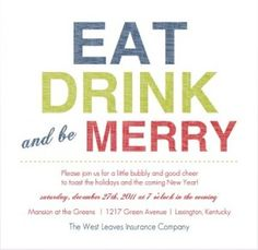Great Office Holiday Party Invitation Ideas!