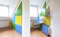 SLAAPZOLDER | denk in 3D | kinderkamer | kast op maat | opbergruimte | kleur | Utrecht | via www.weberontwerpt.nl