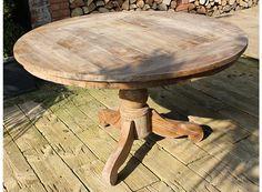 Mooie ronde teakhouten tafel eetkamertafel antieke tafels