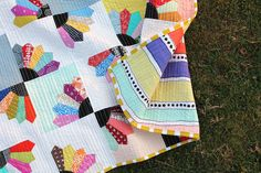 Blueberry Fans Quilt Finish | Flickr - Photo Sharing!