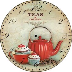 Reloj de Pared artesanal, $185 en https://ofeliafeliz.com.ar