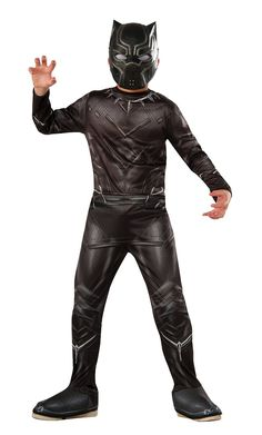 Captain America 3 Black Panther Costume Child