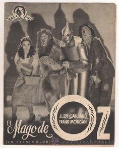 THE WIZARD OF OZ SPANISH DOUBLE HERALD MINI POSTER JUDY GARLAND